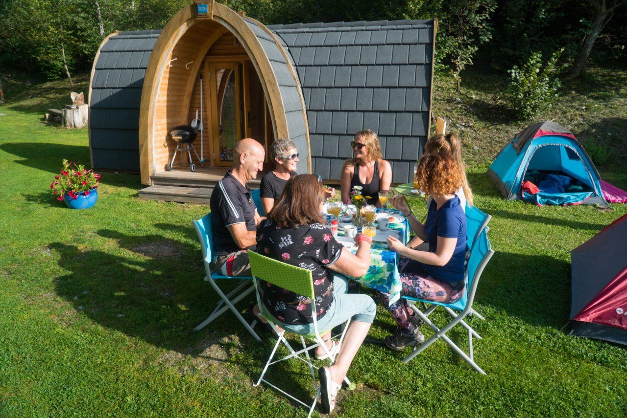 Bike Camping Flims Fruehstueck