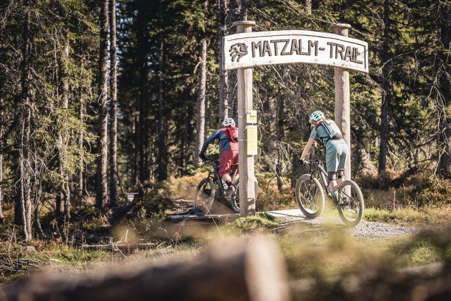 Bike Hotel Saliter Hof Matzalm Trail Einstieg