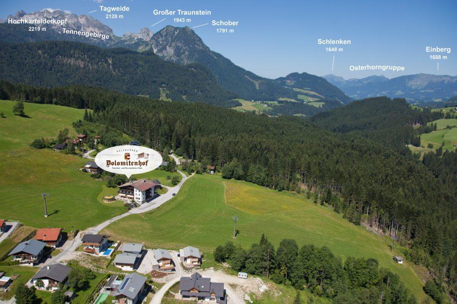 Bike Hotel Salzburger Dolomitenhof Lage