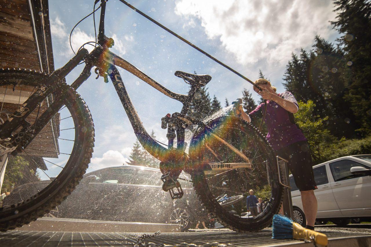 Bike Hotel Spielberghaus Bike Wash