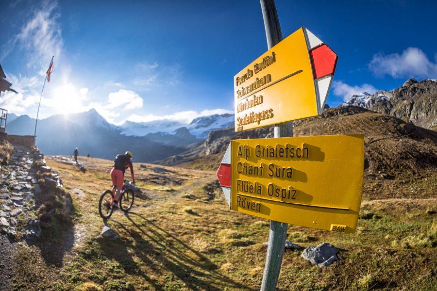 Bike Hotel Sport Lodge Klosters Beschilderung