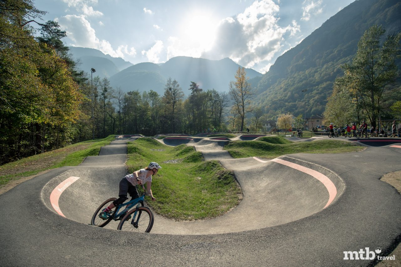 Pumptrack Cevio Valle Maggia Maggia Tal Mountainbike
