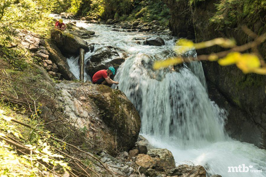 Biken Baden Mountainbike Tour Wasserfall Stoamandal Stoneman
