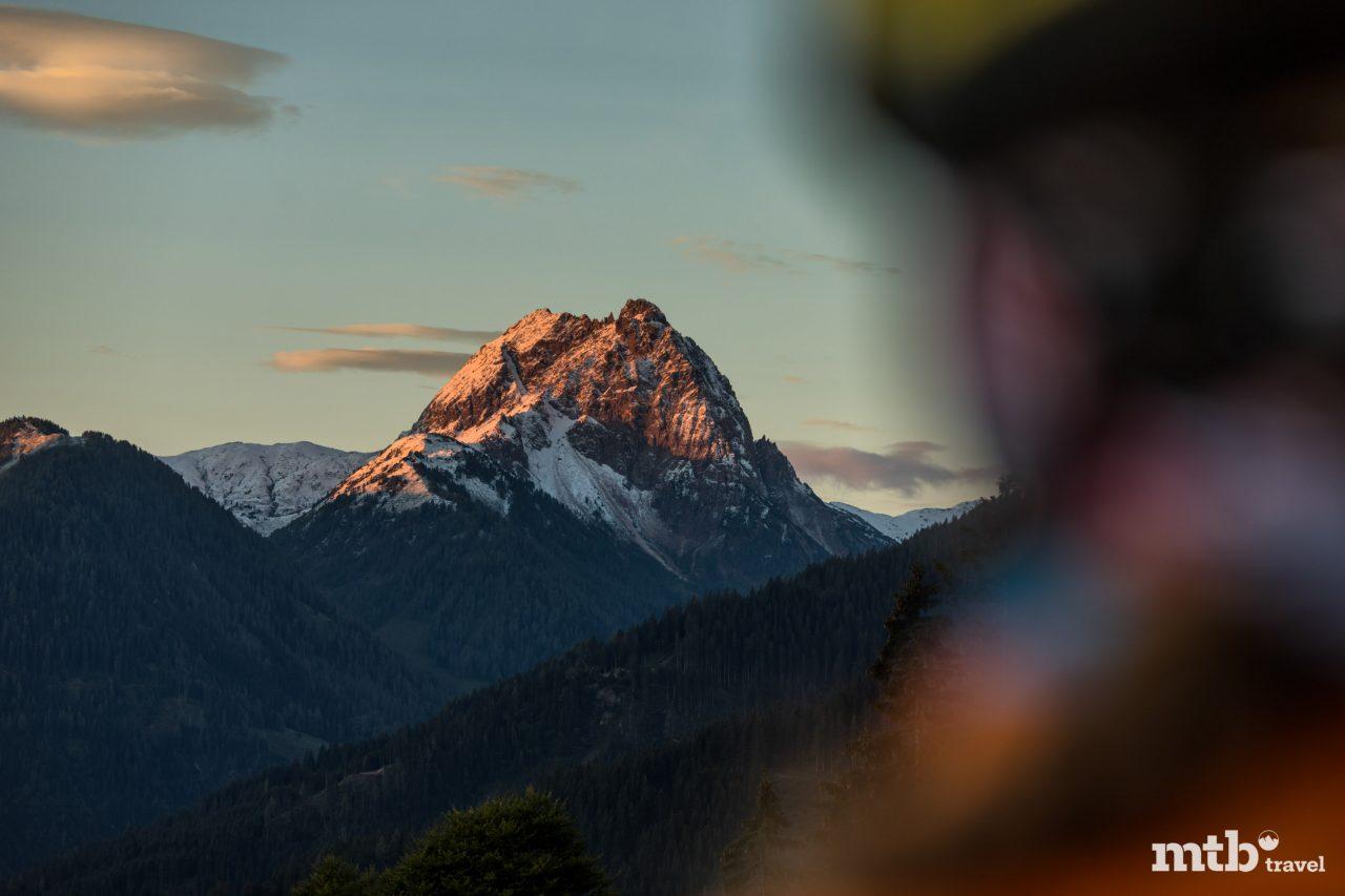 Berg Mountainbike Sonnenaufgang Kitzbüheler Alpen Tirol