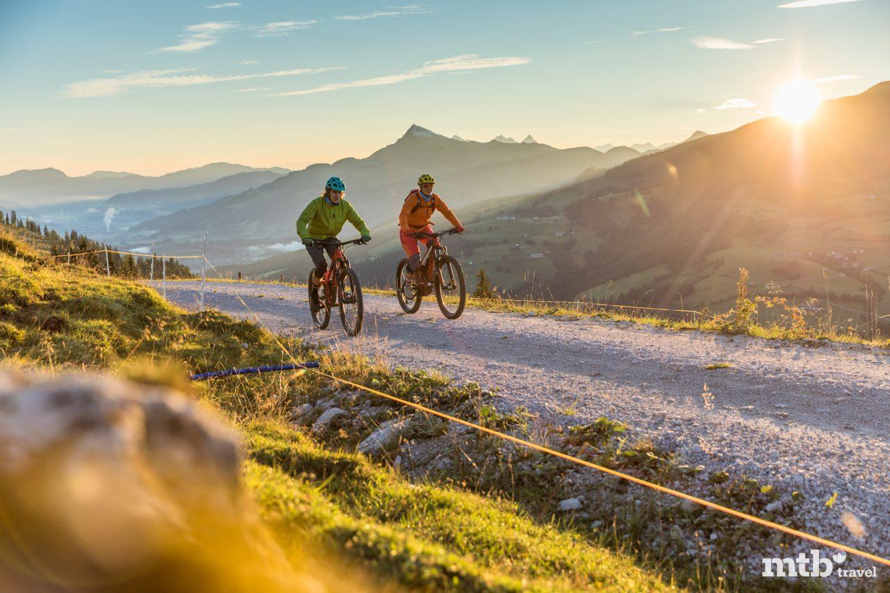 Sonnenaufgang Mountainbike Tour Kitzbüheler Alpen