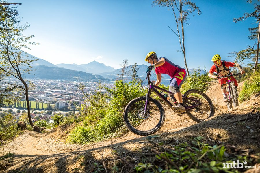 Bike Urlaub in Innsbruck Aublick auf Innsbruck