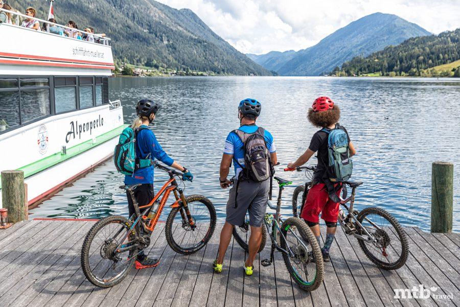 Biken in Weissensee in Österreich