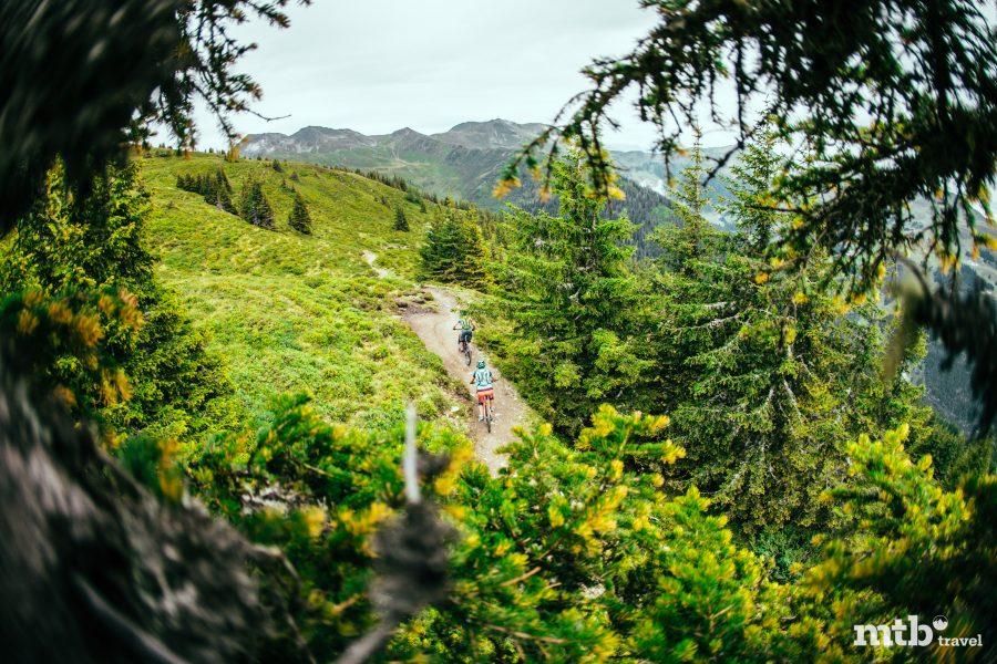 MTB Region Saalbach Hinterglemm gebaute Bike Tour