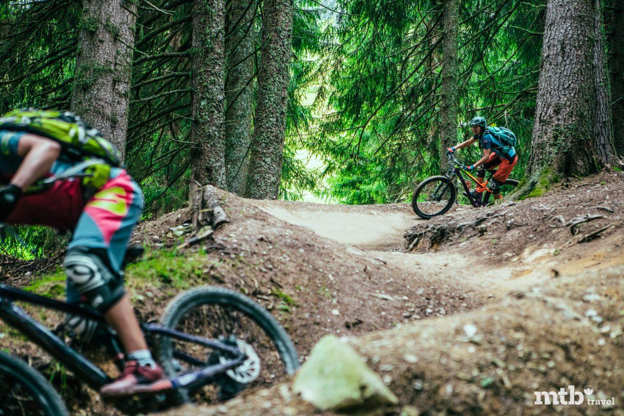 MTB Region Saalbach Hinterglemm gebaute Trails