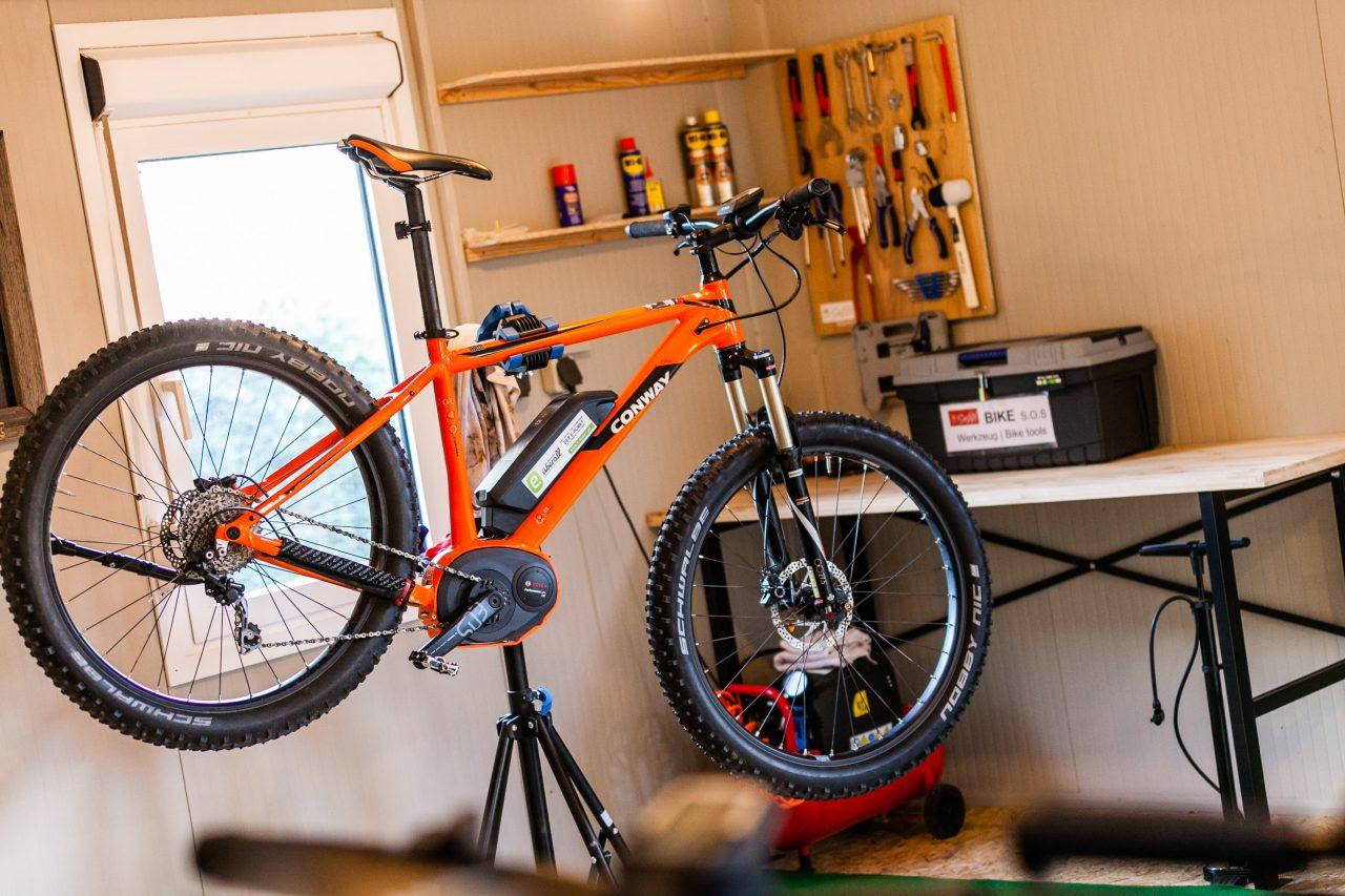 Mountainbike Hotel Seppl Bike Werkstatt