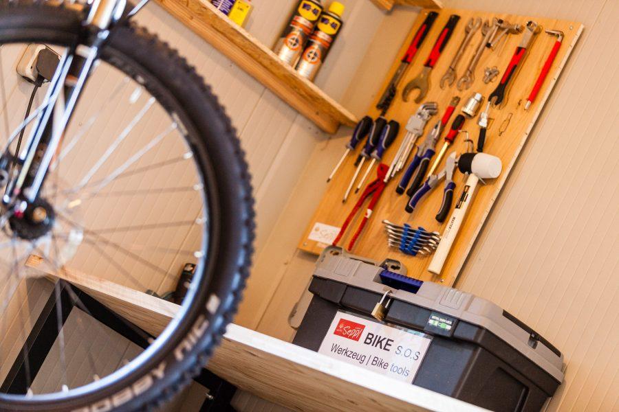 Mountainbike Hotel Seppl Bike Werkstatt 2