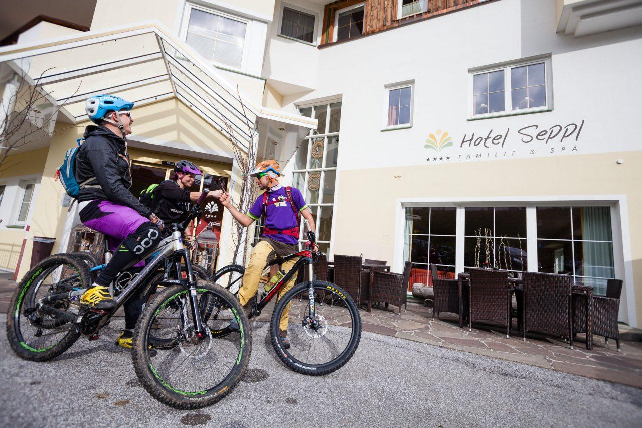 Mountainbike Hotel Seppl Eingang