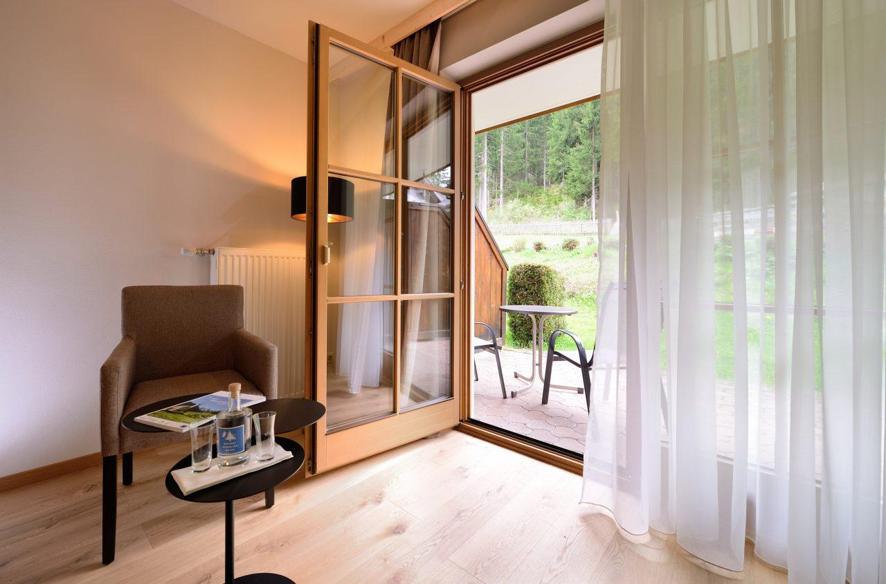 Mountainbike Hotel Waldruhe Blick Terrasse