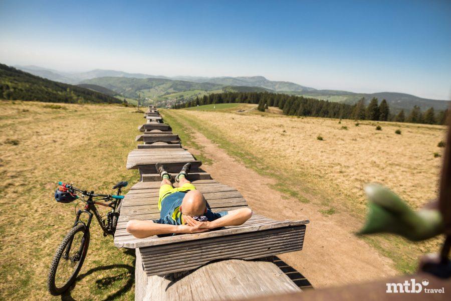 Mountainbike Schwarzwald Baden Württemberg Pause Landschaft Tour