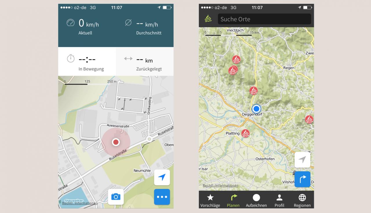 Fahrrad Navi App Test Komoot