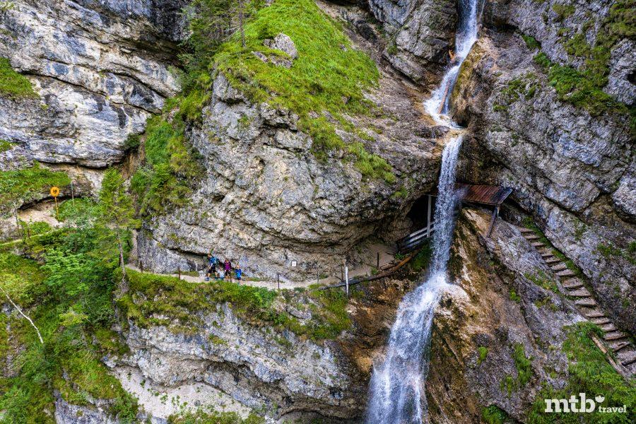 Fahrradfahren mit Kindern im Salzburger Saalachtal - Staubfall