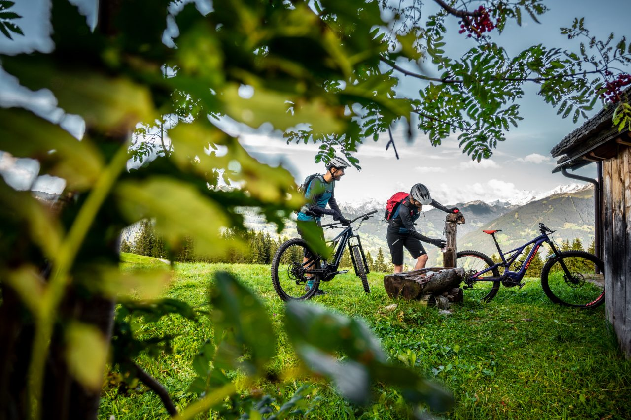 Bike Urlaub im Montafon Pause