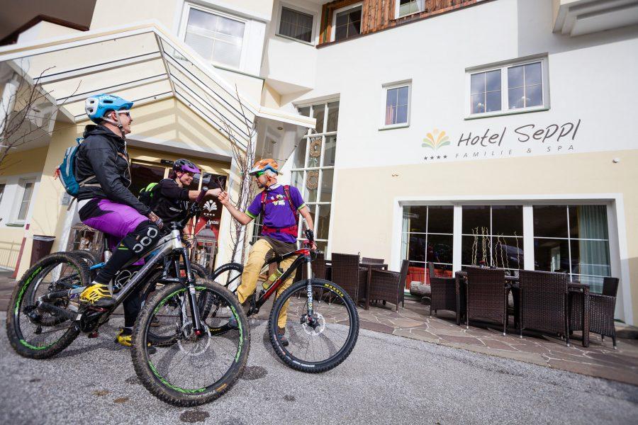 MTB Tour Tirol Hotel Seppl