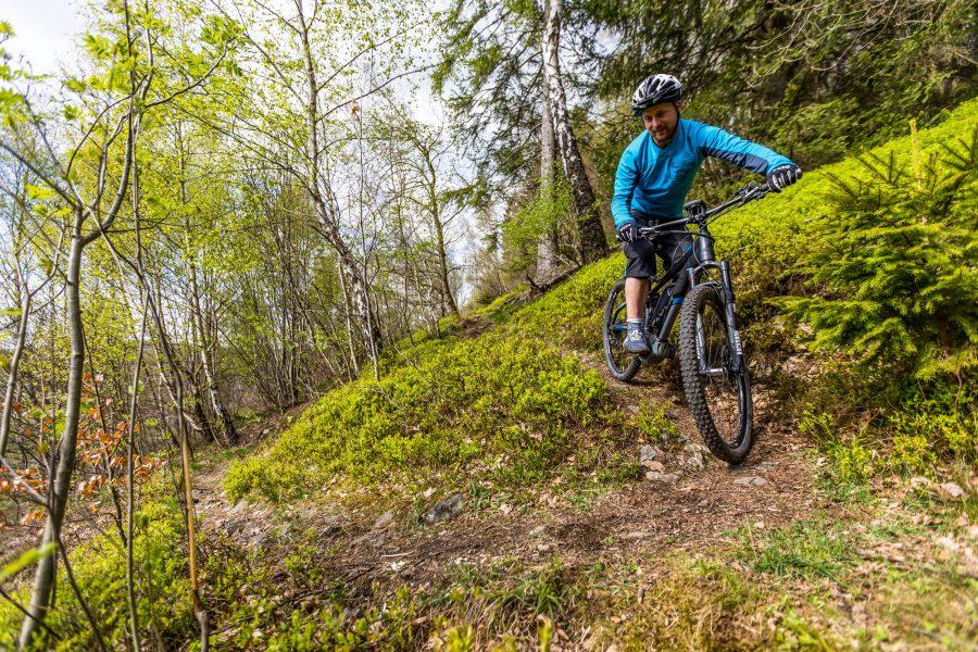 Fahrtechnik Basics für E Mountainbiker früher Blick voraus